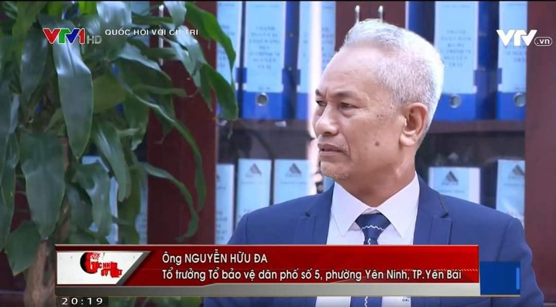 Ông Nguyễn Hữu Đa phát biểu trên truyền hình VTV1