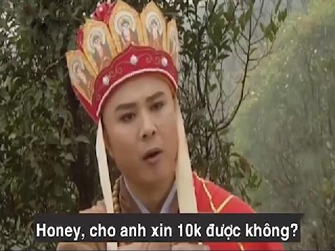 Đường Tăng xin tiền, cho anh xin 10k được không?