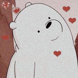 Gấu trắng bắn tim, trái tim yêu thương