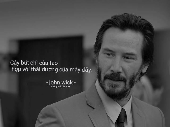 Cây bút chì của tao hợp với thái dương của mày đấy - John wick