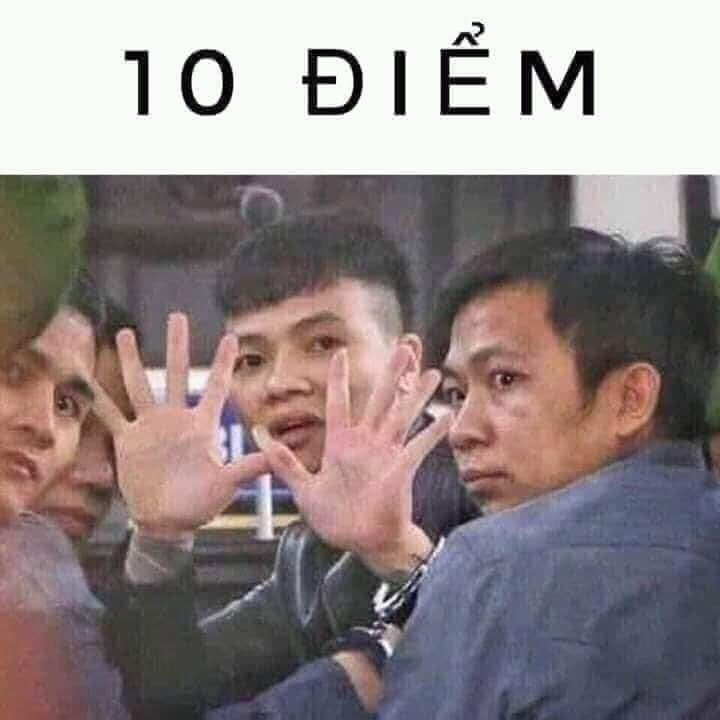 10 điểm - Khá Bảnh đeo còng số 8 dơ 10 ngón tay