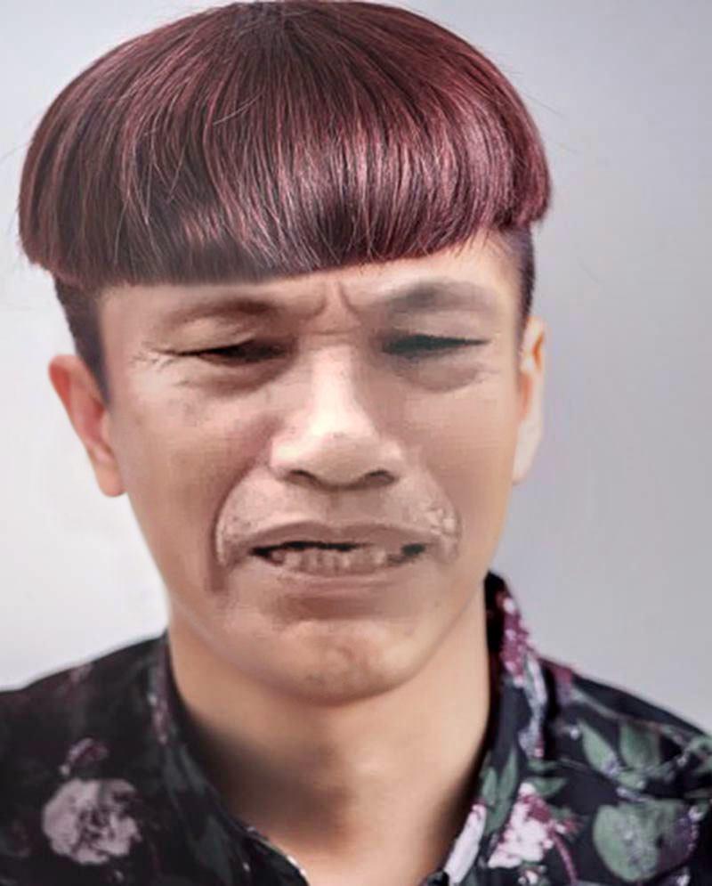 Ông Nguyễn Hữu Đa có kiểu tóc đầu cắt moi