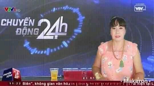 Cô Minh hiếu làm MC Chuyển động 24h