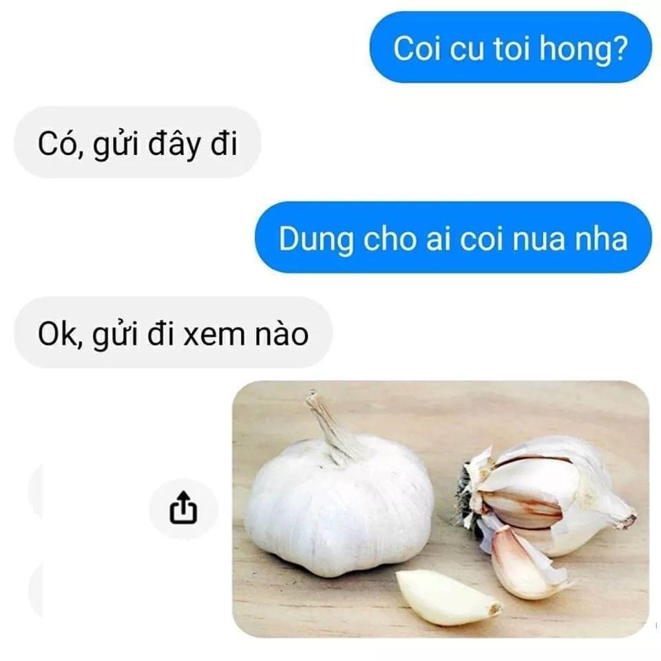 Đoạn chat coi cu toi khong (coi củ tỏi không)