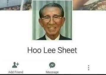 Ảnh facebook người đàn ông tên Hoo Lee Sheet - Holy Sheet
