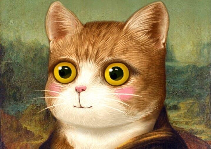 Nàng Mona Lisa có gương mặt mèo
