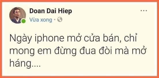 Ngày iphone mở bán, chỉ mong em đừng đua đòi mà mở háng
