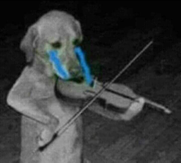Chú chó vừa kéo đàn violin vừa khóc nước mắt thành dòng