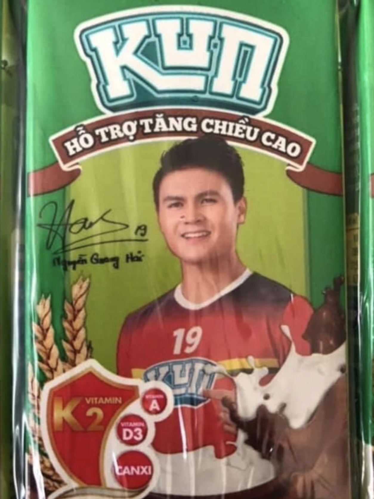 Hộp sữa Quang Hải hỗ trợ tăng chiều cao