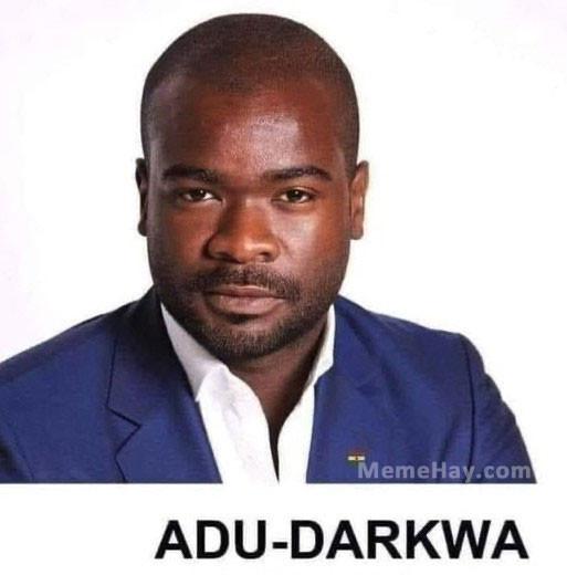 Anh da đen có tên Adu-Darkwa (Á đù - Dark quá)