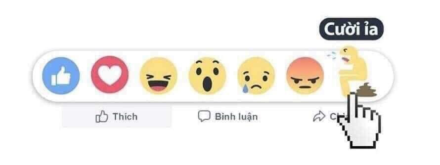 "Biểu tượng cảm xúc Facebook ""Cười ỉa"""