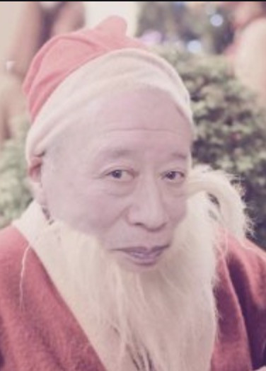 Ảnh chế cụ Tokuda đóng giả ông già noel