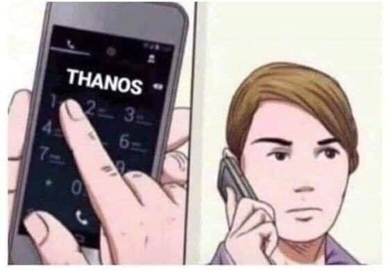 Bấm số điện thoại gọi cho Thanos