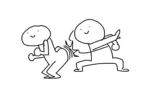 Hình ảnh meme lấy tay đánh vào mông bạn