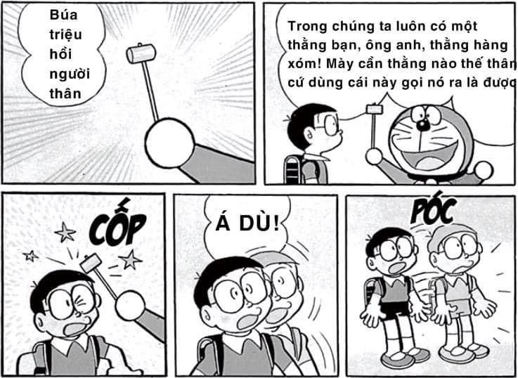 Búa triệu hồi người thân của Doraemon