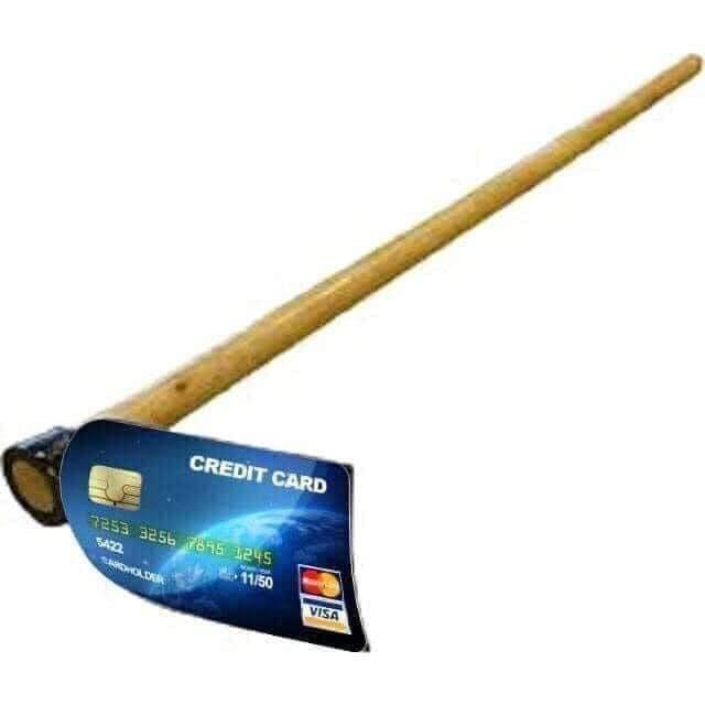 Cây cuốc có lưỡi cuốc bằng thẻ ATM Credit Card