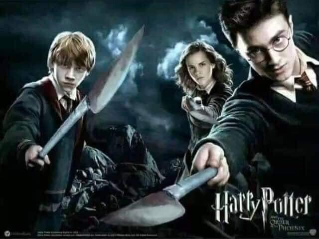 Bộ ba phép thuật Harry Potter cầm phóng lợn