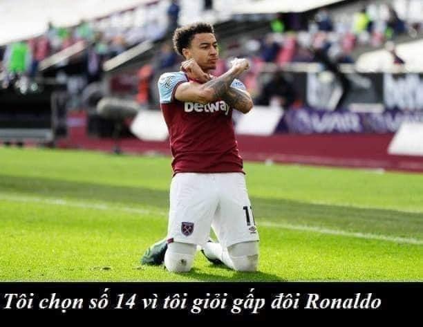 Tôi chọn số 14 vì tôi giỏi gấp đôi Ronaldo CR7