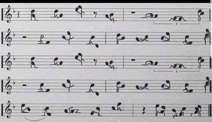 Bản nhạc có những nốt nhạc giống làm tình nhiều tư thế nhạy cảm