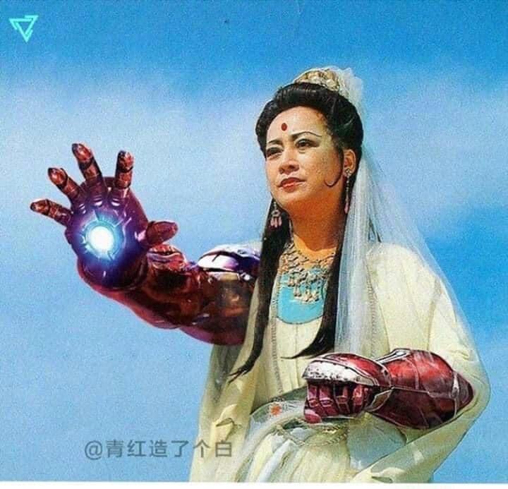 Quan thế âm có đôi tay của người sắt Iron Man